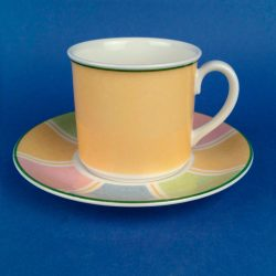 VILLEROY & BOCH Twist Colore Yellow Coffee Cup & Saucer
