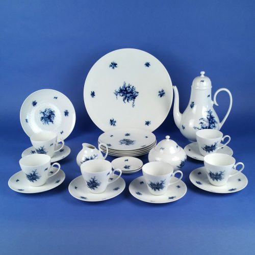 ROSENTHAL Romanze Rhapsody in Blue Afternoon Coffee Service 18 Pieces