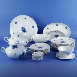 ROSENTHAL Romanze Rhapsody in Blue Dinner Service 31 Pieces