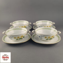 SPODE Country Lane Soup Bowl and Saucer Set - Y8250A