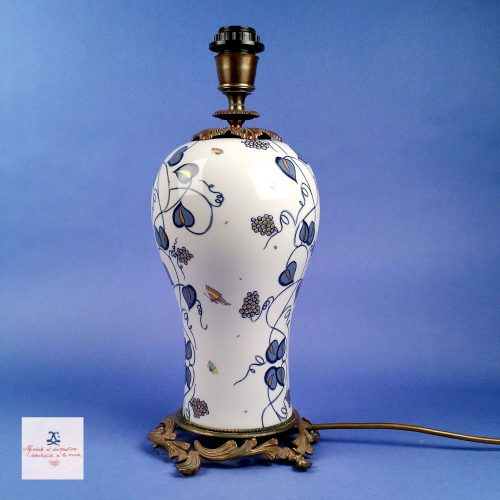 "Guilia Mangani ""Dionysus"" Baluster Porcelain Table Lamp"