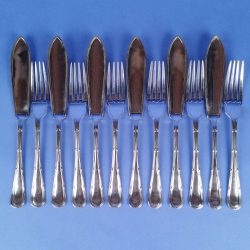 EPNS Fish Knives and Forks by Joseph Elliot - 6 Place