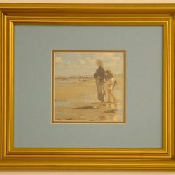 Oyster Gatherers of Cancale detail Framed Print