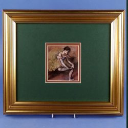 The Green Dress by Degas Framed Print