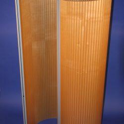 Flexible Tambour Wave Screen in Maple Veneer - 1600mm x 1400mm
