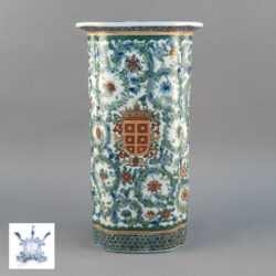 Vintage Chinese Tong Ping Armorial Vase