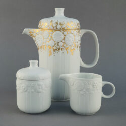 ROSENTHAL White & Gold Flowers Coffee Set - R1641 by Bjorn Winblad